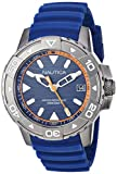 Nautica Herren Analog Quarz Uhr mit Silikon Armband NAPEGT003