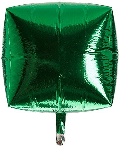 Amscan 3194499 - palloncini a forma di cubo, 38 cm, colore: verde