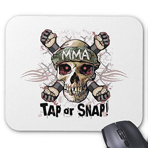 Tap Or Snap MMA Skull Gear Mouse Pad White Skulls Snap