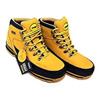 MENS WORK SAFETY SHOES LEATHER BOOTS STEEL TOE CAP ANKLE BOOTS SHOES TRAINERS SAND 10