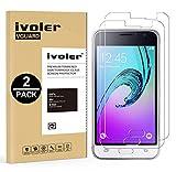 iVoler Kompatibel für Panzerglas Schutzfolie Samsung Galaxy J1 2016 [9H Härte] [Anti- Kratzer] [Bläschenfrei] [2.5D Runde Kante], [2 Stücke]