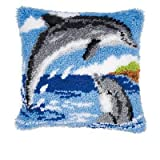 Vervaco Knüpfkissen Motiv Delfine