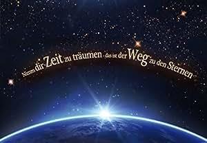 Motivation Papier Peint Photo/Poster Autocollant - Nimm Dir Zeit Zu Träumen, Das Ist Der Weg Zu Den Sternen, 3 Parties (360 x 250 cm)