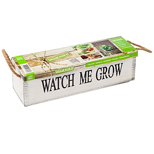 geschenkartikel-shopping Watch me grow Kräutersamen Garten Samen Pflanz-Set Holzkiste