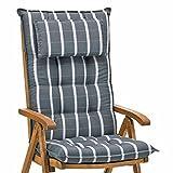 4 Luxus Auflagen für Hochlehner 9 cm dick mit Kopfkissen Miami 20426-700 ohne Sessel ohne Sessel