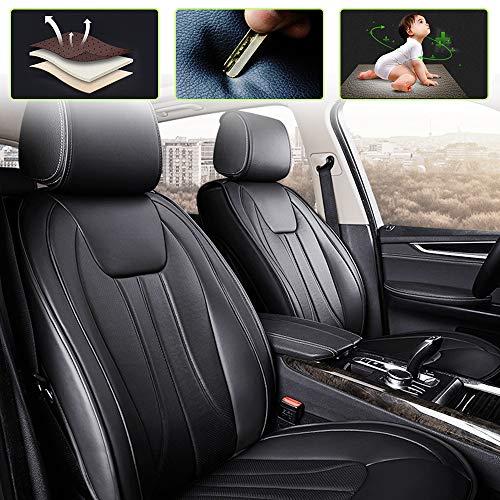 8X-SPEED Set Coprisedili per VW Golf Passat Jetta Polo Bettle Set Completo di 5-Posti Protezioni per sedili Pelle Universale Nero