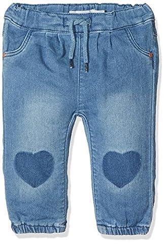 NAME IT Nitarona Swe Reg/r Dnm Pant F Nb, Jeans Bébé Fille, Bleu (Light Blue Denim), 62