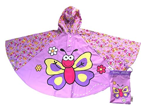 Bugzz - Cape de Pluie Impermeable Thème Papillon