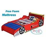 Cars Speed Kids Bed with Luxury Foam Mattress