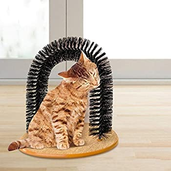 The Perfect Cat Arch jouet ? Self Brosse de toilettage fourrure et Scratch Itch Massage pour chats et chatons