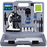 Best Microscopes Kids Microscopes - AMSCOPE-KIDS M30-ABS-KT2-W Microscope Kit With Metal Arm Review