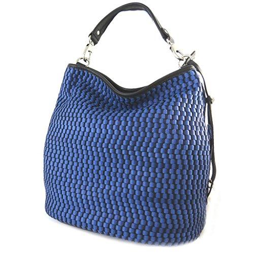 Borsa in pelle 'Gianni Conti'blu - 30x26x17 cm.
