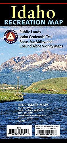 Benchmark Recreation Map Idaho (Benchmark Maps: Idaho) Idaho State Map
