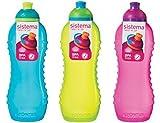 Sistema Trinkflasche, 460 ml, 3 Flaschen, Blau, Lindgrün, Rosa