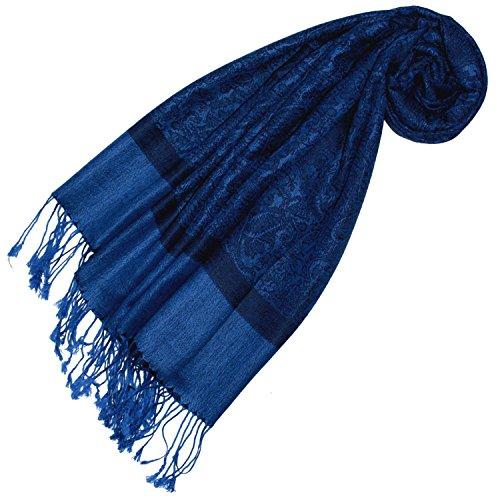 Lorenzo Cana Designer Damen Pashmina hochwertiger Markenschal jacquard gewebtes Paisley Muster 70 cm x 180 cm Modal harmonische Farben Schaltuch Schal Tuch 93287