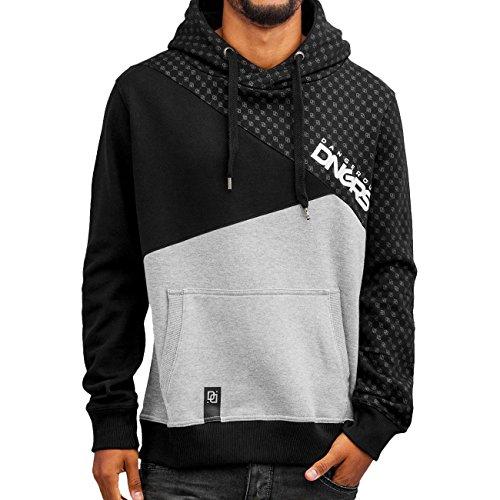 DNGRS Symbols Hoodie Herren Pullover Dangerous Kapuze Kängurutaschen Männer Sweatshirt Grau Schwarz DefShop S M L XL XXL (Adidas-symbol)