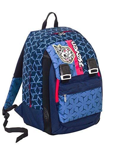 Zaino scuola seven - dice boy - blu - estensibile - variant system - 32 lt - elementari e medie inserti rifrangenti