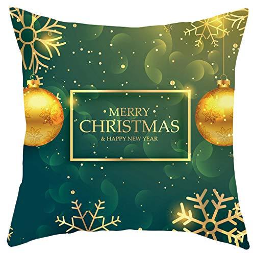 OPALLEY 1er Set Kissenbezüge 45X45 cm Kissenhüllen Mit Weihnachten Mustern Sofakissen Dekokissen Kissen Bezüge Super Weich Weihnachtskissen Kissenbezug Für Sofa Auto Terrasse