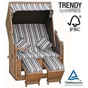 markenware devries strandkorb trend 40 halblieger ostsee kissenausstattung dessin 628 fsc. Black Bedroom Furniture Sets. Home Design Ideas