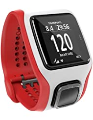 TomTom GPS Sportuhr Multisport Cardio, Red/White, One size, 1RH0.001.03