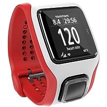 TomTom Multisport Cardio - GPS de mano, rojo y blanco