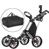 Caddytek facile pliage roue de chariot de golf 4 pousser / tirer et avec le sac...