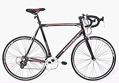 Ammaco Xrs650 Mens Alloy Racing Road Bike Shimano 14 Speed Frame 55cm Black/red from AMMACO