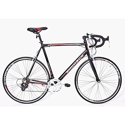 51rNHxjlZ L. SS500  - AMMACO XRS650 MENS ALLOY RACING ROAD BIKE SHIMANO 14 SPEED FRAME 48CM BLACK/RED