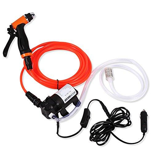 Pompe à eau à haute pression portable Nettoyeur d'arrosage le gazon Pulvérisateur Nettoyage Rondelle de l'automobile voiture 12V électrique