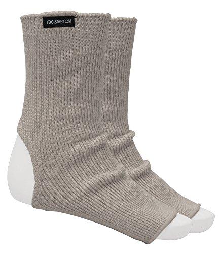 YOGISTAR Yoga-Socken stone grey - Wolle