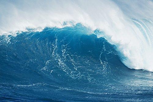 MakenaStockMedia/Design Pics - Hawaii Maui Peahi Large Wave at The Famous Peahi Also Known as 'Jaws'. Photo Print (48,26 x 30,48 cm)