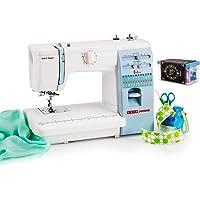 Usha Janome Automatic Stitch Magic Sewing Machine (White and Blue) with Free Sewing KIT Worth RS 500