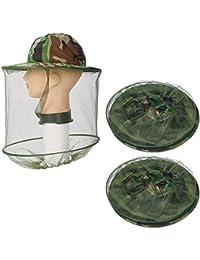 Lezed Apicultor Sombrero Gorro Antimosquitos Gorro Abeja Head Net  Protección Facial Anti Mosquito Insectos (2 a03f56210ff