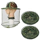 Lezed Apicoltore Cappello Anti Zanzare Anti Mosquito Insetto Protezione Facciale Mask cap per Pesca All'aperto Caccia Camping (2 Pezzi Camouflage)