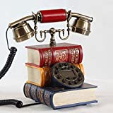 NDIANHUA Antike Telefon - Europäische Stil Rotation und Metall Button Home Office Telefon - Mode A+ (Farbe : Taste)