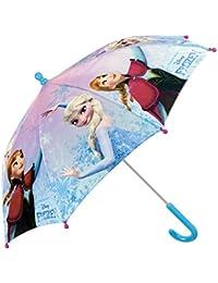 Paraguas Disney Frozen de Niña - con estampado Elsa y Anna - Paraguas resistente, antiviento