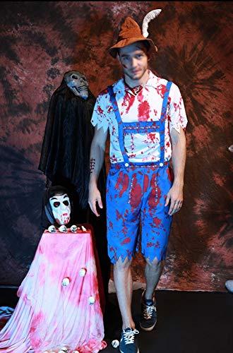 Joker Kostüm Lady - GHDTGS Womens Halloween Knochen-A-Fied Babe Skeleton Jumpsuit Kostüm,B-M