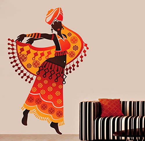 Decals Design 'Beautiful Arabian Dancer' Wall Sticker (PVC Vinyl, 70 cm x 50 cm),Multicolour
