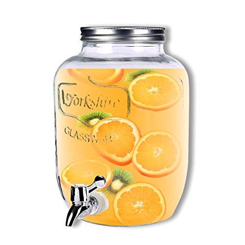 Schramm dispensador de Bebidas Aprox. 3,5litros con Tapa de Rosca zapfhahnflasche weckglasoptik dispensador de Zumo