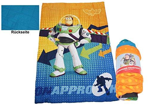 (Disney Toy Story Kinder Bettdecke Microfaser Kuscheldecke Babydecke mit Buzz Lightyear Motiv 135x200 cm)