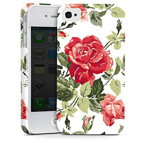 Apple iPhone X Silikon Hülle Case Schutzhülle Rosen Frühling Blüten Premium Case glänzend
