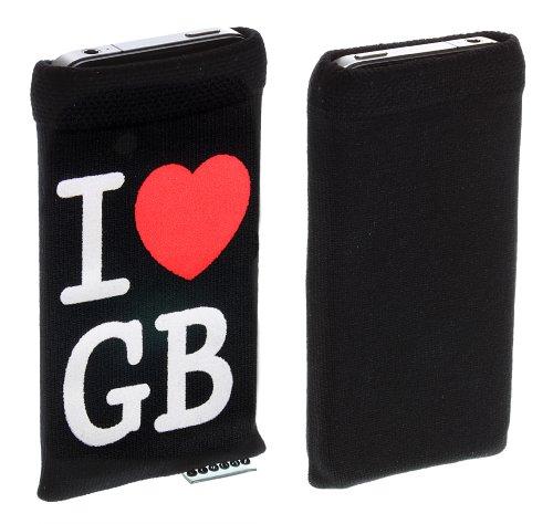 Trendz Universal Smartphone Handysocke - schwarz I Love Great Britain