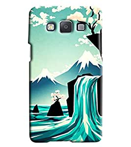 Blue Throat Waterfaprinted Designer Back Cover/ Case For Samsung Galaxy E5