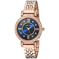 Anne Klein Women's Blue Dial Stainless Steel Band Watch - Ak2928Nvrg, Analog Display
