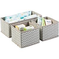 mDesign Cajas almacenaje juego de 3 – Cajas almacenaje ropa, toallas, sábanas – Ideales cajas organizadoras para un orden óptimo – Color topo/natural