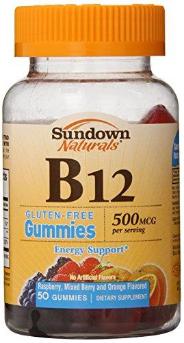 Sundown NaturalsVitamin B-12 500 mcg, 50 Gummies (Pack of