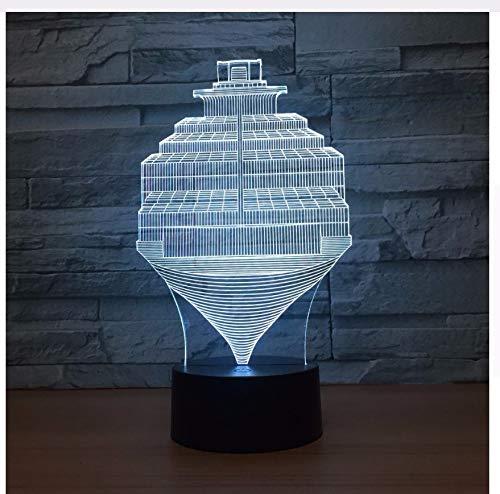 3D Led Luz de Noche Pasos de Moda Lámpara Abstracta Usb 7 Cambio de Color Interruptor Táctil Led Lámpara de Dormitorio Interior Decoración de Fiesta Lámpara de Luz Caja del regalo del día de los niños