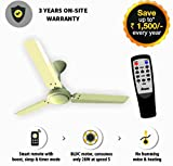 Gorilla Energy Saving 5 Star Rated 1200 Mm Ceiling Fan With Remote Control And Bldc Motor - Ivory