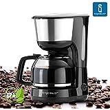 Aigostar Basic Black 30HIK - Máquina de café, cafetera, color negro, potencia de 1000 watios, capacidad 1'25 litros. Libre BPA.