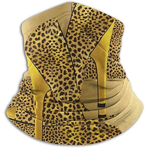 Archiba sciarpa al collo scarpe leopardo dorato scaldacollo in pile animale scaldacollo scaldacollo invernale